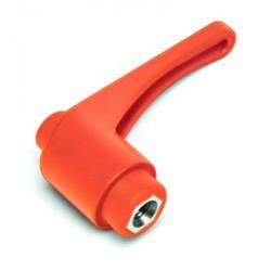 KLHM 78 M12 Přestavitelná plastová páčka s vnítřním závitem - matice,oranžová