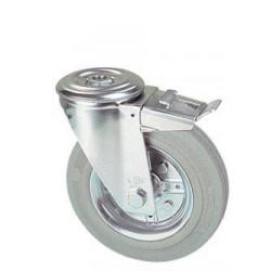 LGB 100/QRD  Otočné kolo s šedou obručí s otvorem a brzdou