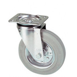 LGK 200/GR  Otočné kolo s šedou gumovou obručí