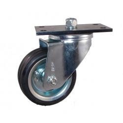 LNR 100A/GR   Otočné kolo  s černou gumovou obručí plotna Sázavan (náhrada KB 100.2)