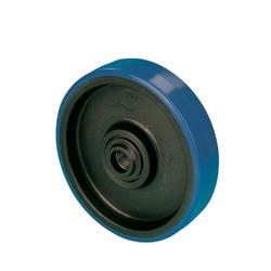 NDE 100  Samostatné kolo s modrou polyuretanovou obručí