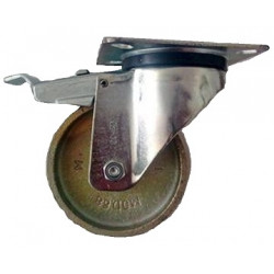GBK 200/GRD   Otočné kolo ocelolitinové s brzdou